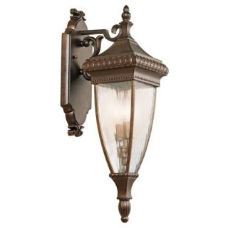 Kichler 49131BRZ Outdoor Light, Classic (Formal Traditional) Wall Lantern 2 Light Fixture Bronze