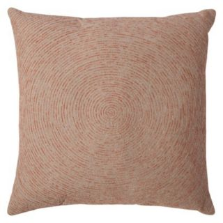 Threshold Space Dyed Embroidered Toss Pillow   Coral (20x20)