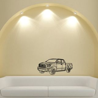 Toyota Tundra Pickup Truck Vinyl Wall Decal Art (Glossy blackEasy to applyDimensions 25 inches wide x 35 inches long )