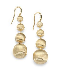 Marco Bicego 18K Yellow Gold Graduated Ball Drop Earrings   Gold