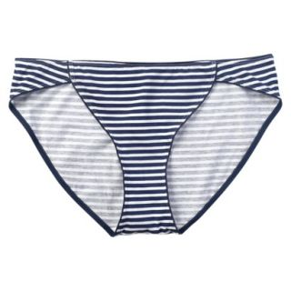 JKY By Jockey Womens Cotton Stretch Bikini   Navy Stripe 5