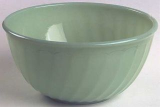 Anchor Hocking Swirl Jade Ite Shell Mixing Bowl   Fire King,Jadite Shell,60S,Sc