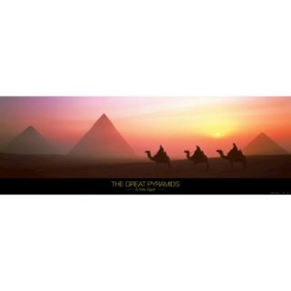 Art   The Great Pyramids of Giza, Egypt Mounted Print