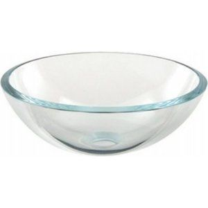 Aquabrass AB CC131 Crystal Clear Glass Round Crystal Clear Tempered Glass Basin