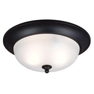 Sea Gull Lighting SEA 7827402BLE 12 Humboldt Park Two Light Outdoor Ceiling Flus