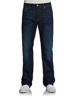 Austyn Relaxed Straight Leg Jeans   Clear Lake Blue