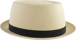 Mens Kangol Buckle Pork Pie   Natural Hats