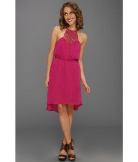 Max and Cleo Eliana Woven Cocktail Womens Dress (Purple)