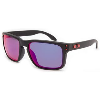 Holbrook Sunglasses Matte Black/Red Iridium One Size For Men 215995182
