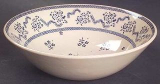 Johnson Brothers Petite Fleur Blue Coupe Cereal Bowl, Fine China Dinnerware   Bl