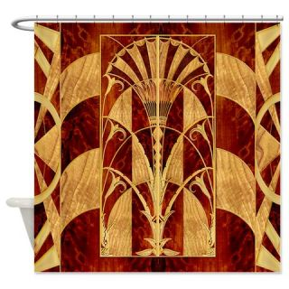 Harvest Moons Art Deco Panel Shower Curtain  Use code FREECART at Checkout