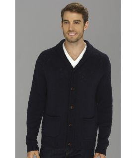 Lucky Brand Slub Shawl Cardigan Mens Sweater (Navy)
