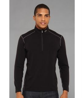 Hot Chillys MTF4000 Zip T Mens Clothing (Black)
