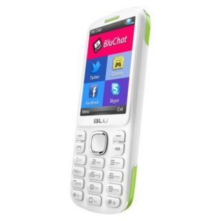 BLU Jenny TV 2.8 T176T Unlocked GSM Dual SIM Cell Phone   White/Lime