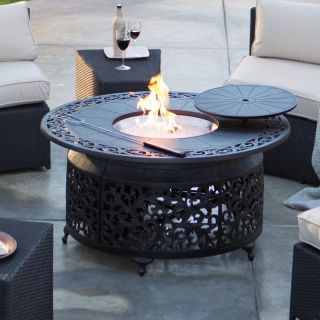 Alfresco Home LLC Palazetto San Miguel Cast Aluminum 48 in. Round Gas Fire Pit