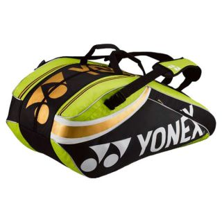Yonex Pro Nine Pack Tennis Bag Lime Green/Black  Green