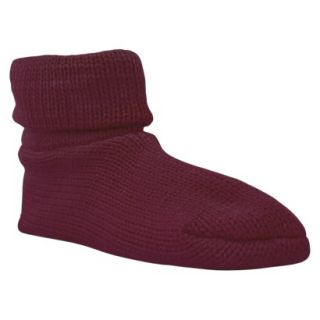 MUK LUKSCuff Slipper Sock W/ Anti Skid   Dark Cherry
