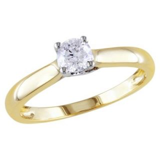 1/3 Carat Diamond in 14k White and yellow Gold Ring (Size 7)