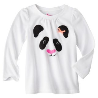 Circo Infant Toddler Girls Long sleeve Tee   White 12 M