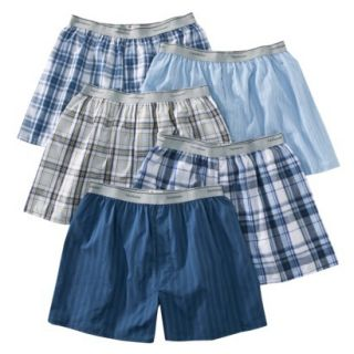 Fruit of the Loom Mens Elastic Waistband Boxers 5 Pack   Assorted Colors XL