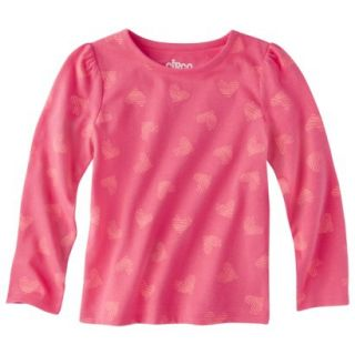 Circo Infant Toddler Girls Long sleeve Print Tee   Coral 18 M
