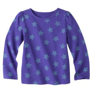 Circo Infant Toddler Girls Long sleeve Print Tee   Indigo 2T