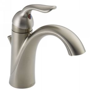 Delta Faucet 538 SSMPU DST Lahara Single Handle Bathroom Faucet with Metal Pop U