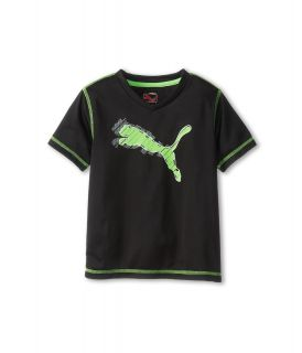 Puma Kids Cat Tee Boys Short Sleeve Pullover (Black)