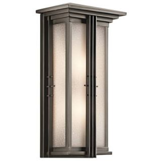 Kichler 49160OZ Outdoor Light, Arts and Crafts/Mission Lantern 2 Light Fixture Olde Bronze
