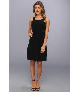 Amanda Uprichard Mesh Sheath Dress Womens Dress (Black)