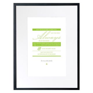 Checkerboard Ltd Irish Blessing Personalized Framed Wall Decor   18W x 24H in.