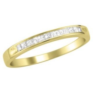 1/4 CT.T.W. Ring Band 14K Yellow Gold   Size 8