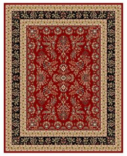 Lyndhurst Collection Red/ Black Rug (8 X 11) (RedPattern OrientalMeasures 0.375 inch thickTip We recommend the use of a non skid pad to keep the rug in place on smooth surfaces.All rug sizes are approximate. Due to the difference of monitor colors, some