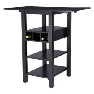 Counter Height Table Jordan Counter Height Table with Storage   Black