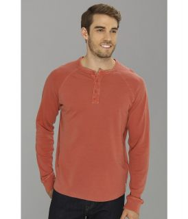 Lucky Brand Double Knit Henley Mens T Shirt (Red)