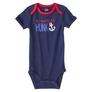 Just One YouMade by Carters Newborn Boys Single Bodysuit   Alpha Blue NB