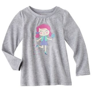 Circo Infant Toddler Girls Long sleeve Tee   Grey 12 M