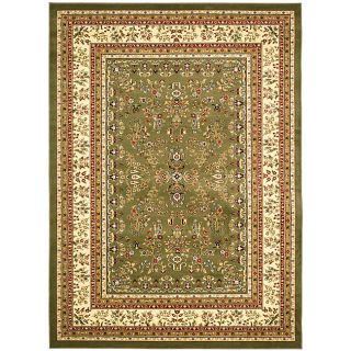 Lyndhurst Collection Sage/ Ivory Rug (8 X 11) (GreenPattern OrientalMeasures 0.375 inch thickTip We recommend the use of a non skid pad to keep the rug in place on smooth surfaces.All rug sizes are approximate. Due to the difference of monitor colors, s