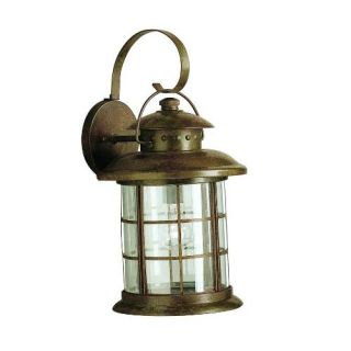 Kichler 9761RST Outdoor Light, Transitional Wall 1 Light Fixture Rustic