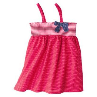 Circo Infant Toddler Girls Polka Dot Swim Cover Up Dress   Red 3T