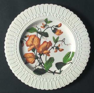 Royal Cauldon Flower Series Luncheon Plate, Fine China Dinnerware   Dotted Embos