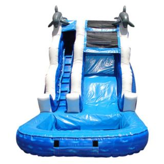 Kidwise 16 ft. Inflatable Water Slide Multicolor   KE WS4110