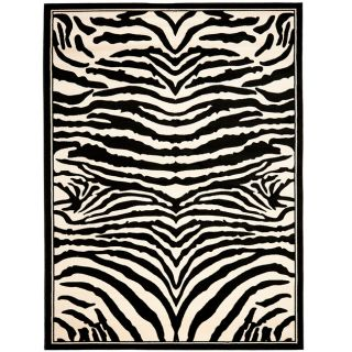 Lyndhurst Collection Zebra Black/ White Rug (33 X 53)