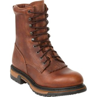 Rocky Ride 8in. Lacer Western Boot   Brown, Size 7 1/2, Model# 2722