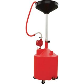 Roughneck Portable Oil Drain w/ Pump & Drain Valve   18 Gallon