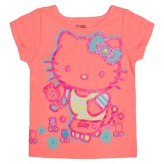Hello Kitty Infant Toddler Girls Short Sleeve Tee   Apricot Orange 18 M