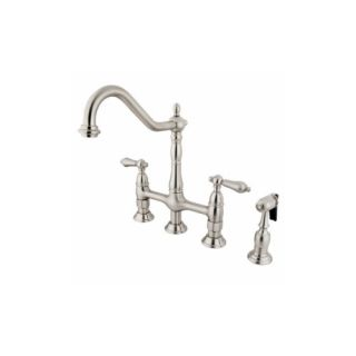Elements of Design ES1278ALBS New Orleans Two Handle Kitchen Faucet With Spray