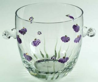 Artland Crystal Purple Passion Wine Cooler   Purple Flowers, Green Stems/Leaves