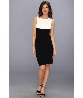 Calvin Klein Two Tone Matte Jersey Dress CD3A2WAD Womens Dress (Bone)