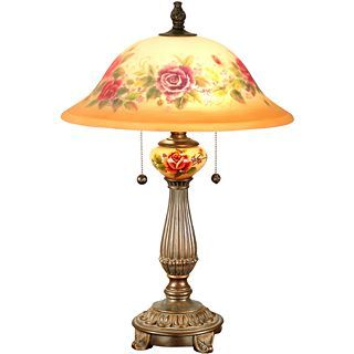 Dale Tiffany Brazilian Handpainted Table Lamp
